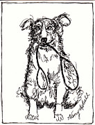 Ruff Drawings - Wanna Go For A Walk by Michele Hollister - for Nancy Asbell
