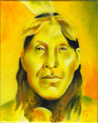 Contemporary Native Art Paintings - Wanstall by Robert Martinez