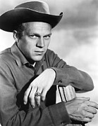1950s Portraits Posters - Wanted Dead Or Alive, Steve Mcqueen Poster by Everett