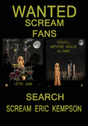 Screaming Mixed Media Posters - Wanted Scream Fans Poster by Eric Kempson