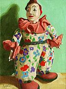 Linda Apple Originals - War Clown- still life oil painting by Linda Apple