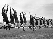 Rugby League Metal Prints - War Dance Metal Print by Charles Hewitt