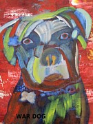 Neo Expressionism Paintings - War Dog by Patricia Cleasby