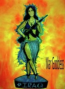 Warrior Goddess Mixed Media Posters - War Goddess Poster by Michelle Wilmot