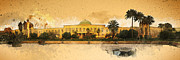 Iraq Mixed Media Prints - War in Iraq Sadaams Palace Print by Jeff Steed
