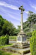War Memorial - Barton Under Needwood Print by Rod Johnson