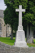 Derbyshire Cross Prints - War Memorial in St Marys Churchyard - Crich Print by Rod Johnson