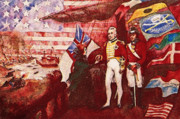 Frigates Mixed Media Prints - War of 1812 Print by Dean Gleisberg