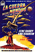 Spanish Poster Art Posters - War Of The Worlds, Bottom, Left Poster by Everett