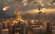 Destruction Digital Art - War Of The Worlds by Mark Stevenson