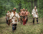 Revolutionary War Digital Art Prints - War Party French and Indian War Print by Randy Steele
