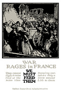France Mixed Media Metal Prints - War Rages In France We Must Feed Them Metal Print by War Is Hell Store