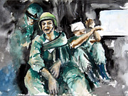 Iraq War Paintings - War  what is it good for NOTHING by Leonardo Ruggieri