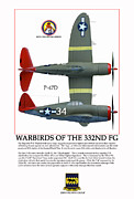 Razorback Posters - Warbirds Of The 332ND FG Poster by Jerry Taliaferro