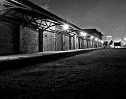 John Collins Metal Prints - Warehouse at night Metal Print by John Collins