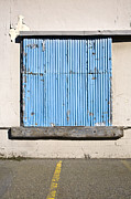 Asphalt Photos - Warehouse Door by Paul Edmondson
