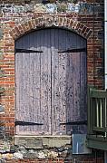 Warehouse Wooden Door Print by Thomas Marchessault