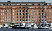 Warehouses Framed Prints - Warehouses and Boats - Baltimore - Maryland Framed Print by Brendan Reals