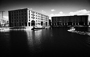 Liverpool Prints - Warehouses Housing The Martime Museum In The Basin At The Albert Dock Liverpool Merseyside England  Print by Joe Fox