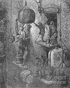 Warehousing Posters - Warehousing In The City By Gustave Dore Poster by Science Source