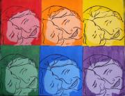 Lesbian Paintings - Warhol Inspired by Ashley Porter