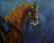 Civil Paintings - Warhorse-US Cavalry by Joann Renner
