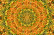 Kaleidoscope Art - Warm Burst by Kristin Elmquist