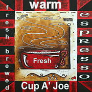 Licensor Prints - Warm Cup of Joe Original Painting MADART Print by Megan Duncanson