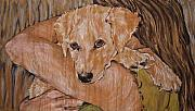 Golden Retriever Mixed Media - Warm Embrace No. 2 by Christine Marek-Matejka