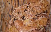 Animal Portraits Pastels Prints - Warm Embrace No.1 Print by Christine Marek-Matejka