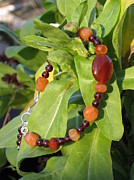 Sterling Silver Bracelet Art - Warm Fall Colors Handmade Bracelet by Naomi Mountainspring
