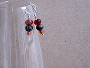 Dark Jewelry - Warm Fall Colors Handmade Earrings by Naomi Mountainspring