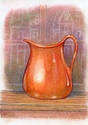 Pottery Pitcher Originals - Warm glow at Dusk by Jeffrey Summers