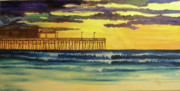Galveston Paintings - Warm Gulf by Tracey Bautista