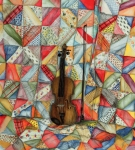 Violin Drawings Prints - Warm Melodies Print by Robin Martin Parrish