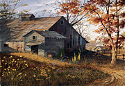 Barn Painting Posters - Warm Memories Poster by Michael Humphries