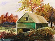 Colors Of Autumn Drawings Prints - Warm Mood Print by John  Williams