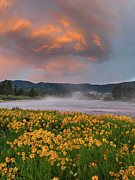Storm Photos - Warm River Sunset by Leland Howard