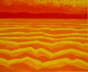Colourful Prints Art - Warm Seascape by John  Nolan