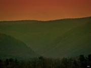 Warm Spring Mountains Print by Debra     Vatalaro