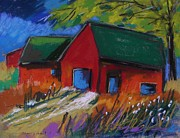 Barns Drawings Prints - Warm Weather Print by John  Williams
