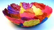 Wall Art Ceramics Originals - WarmColor Soft Bowl by Alene Sirott-Cope