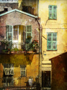 Tourism Digital Art - Warmth of Old Villefranche by Julie Palencia
