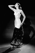 1950s Fashion Framed Prints - Warner Corset Provided Full Body Framed Print by Everett