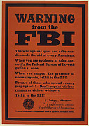 Fbi Prints - Warning from the FBI Print by Purcell Pictures