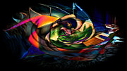 Cool Digital Art Originals - Warped Reality 12 by Robert DeLaCruz