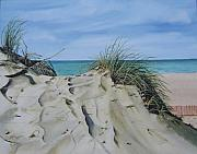 Sand Dunes Paintings - Warren Dunes by Mary Rogers