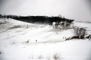 Drifting Snow Prints - Warren Dunes Winter Landscape Print by Purcell Pictures