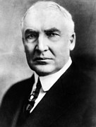 Harding Framed Prints - Warren G. Harding 1865-1923, United Framed Print by Everett