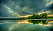 Fort Collins Prints - Warren Lake at Sunset Print by Anthony Doudt